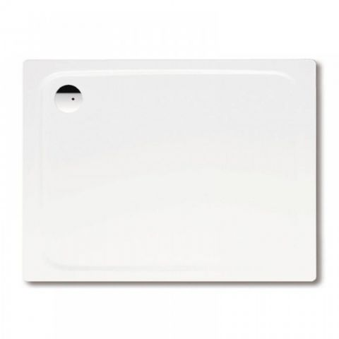 Kaldewei Superplan 750 x 1000mm Rectangular Steel Shower Tray in Alpine White